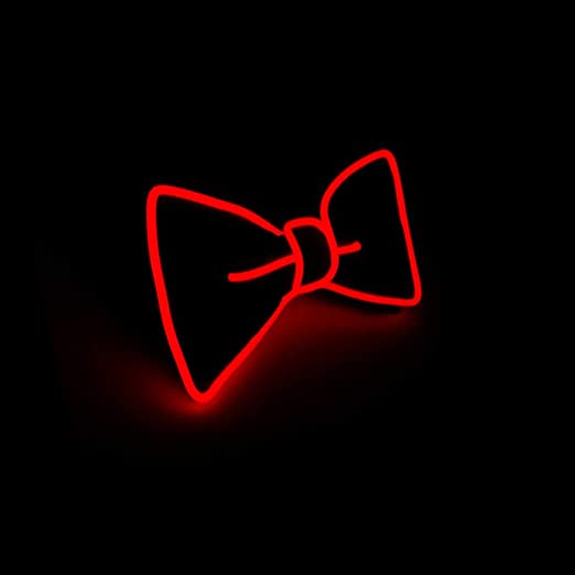 LED Bow Tie Light Up, Party Glowing Accessories