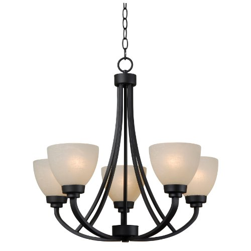 Kenroy Home 93195BBZ Dynasty 5-Light Chandelier with Burnished Bronze Finish - Bronze Finish 5 Light Chandelier