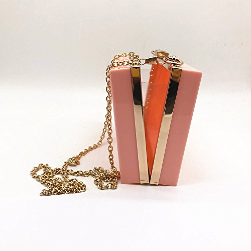 Casual Party New Bag Pink Wallet Woman handbag Fashion Shoulder Clutch Hard Evening Solid Women Brand Acrylic 7qCIOwxH
