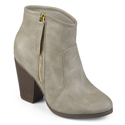 Collection Leather High Womens Ankle Boots Heel Faux Faux Journee Suede Natural FadwUF