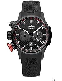 Men's 10302 37N NIN Chronorally Analog Display Swiss Quartz Black Watch
