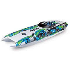 "DCB M41 Widebody Catamaran Race Boat 40"" Length 1/10 Scale 50+ MPH Velineon 540 XL High-Output Brushless Motor TQi 2.4GHz Transmitter Waterproof High-Torque Steering Servo Ready-To-RaceGreen"