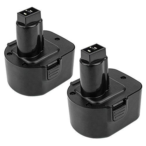 3.0Ah Ni-Mh DC9071 Replacement for Dewalt 12V XRP Battery DW9071 DW9072 DE9037 DE9071 DE9072 DE9074 Cordless Power Tool Batteries 2 Packs by ENERMALL