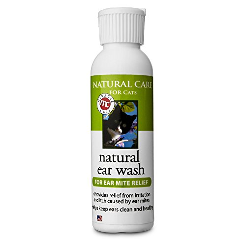 Miracle Care Natural Ear Wash for Cats, 4 oz Ear Wash Anti Itch