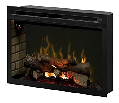 "Dimplex PF3033HL Multi-Fire XD 33"" Electric Firebox with Faux Logs Bed, Black"