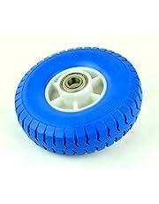 Massief rubber PU-wiel/nr. 13/2.50-4 Ø210 x 60 mm steekwagenwiel bolderkart reservewiel kogellagers velg