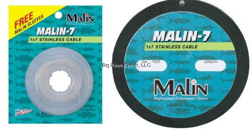 Malin 7-Strand Stainless Steel 300-Feet Wire, .021-Diameter