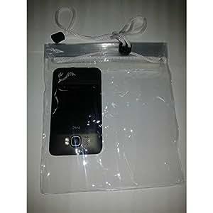 Pcmoviles -- Blanco Transparente Bolsa Impermeable Agua Doble Cierre para Sony xperia C1505 E Dual
