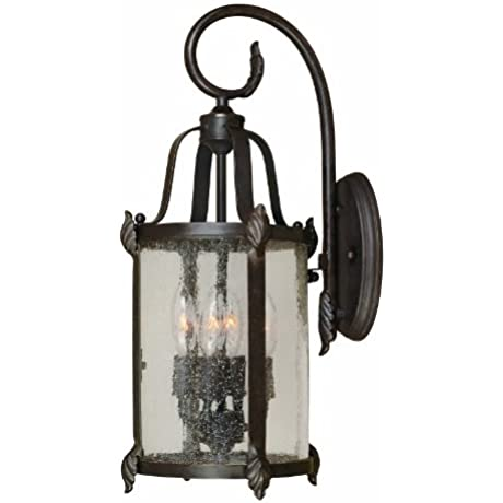 World Imports 1693 89 Old Sturbridge Collection 4 Light Outdoor Wall Lantern Bronze