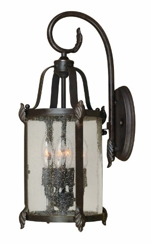 World Imports 1693-89 Old Sturbridge Collection 4-Light Outdoor Wall Lantern, Bronze ()