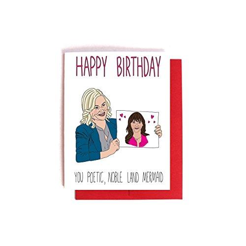 10sales leslie knope ann perkins birthday card parks