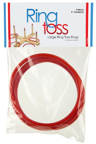Case of 48 Large 5 Inch Size Ring Toss Rings - Includes 4 Bonus Rings (52 Total)! by Unknown