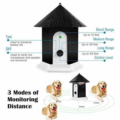 HoomDirect Anti Barking Device, Outdoor Ultrasonic Bark Control, Sonic Bark Deterrents,Waterproof Dog Bark Controller in Birdhouse Shape