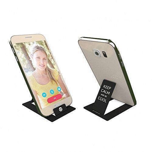 hold - ideale handyhalterung im kreditkartenformat - stabiler ständer für alle smartphones und mini tablets