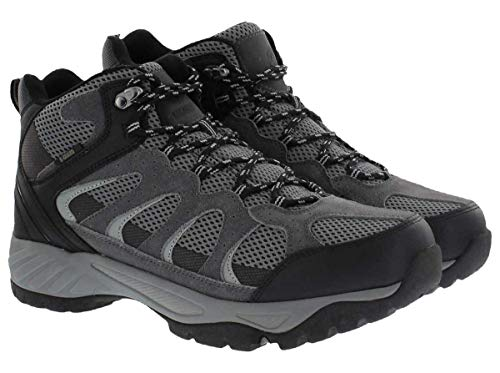 Khombu Tyler Men's Leather Hiking Outdoor Tactical Boots -Black/Grey - Size 9