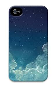 iPhone 4S Case, iPhone 4S Cases - Starry night sky Polycarbonate Hard Case Cover for iPhone 4/4S
