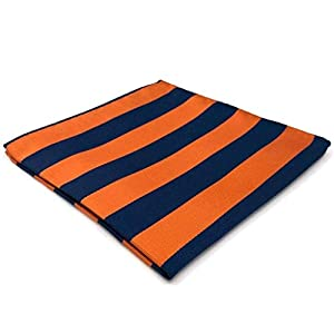 SHLAX&WING New Blue Orange Striped Neckties for Men Tie Set Business Long Skinny