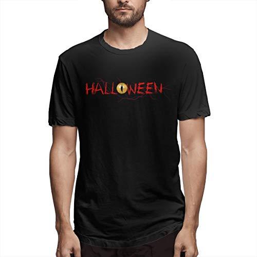 SPENCER Halloween Devil's Eyes Novelty Men's T-Shirt Tee Black -