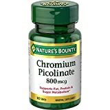 Nature's Bounty Mega Chromium Picolinate 800 mcg - 50 Tablets, Pack of 2