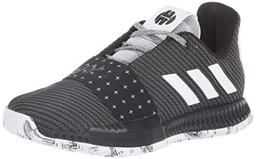 adidas Unisex Harden Vol. 3 Basketball Shoe, White/Black, 4 M US Big Kid