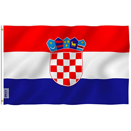 - Anley Fly Breeze 3x5 Foot Croatia Flag - Vivid Color and UV Fade Resistant - Canvas Header and Double Stitched - Croatian Flags Polyester with Brass Grommets 3 X 5 Ft