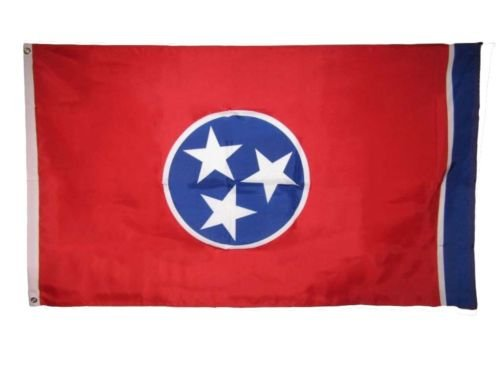 3x5 Tennessee State TN United States 200D Nylon Flag 3x5 Grommets 2 clips BEST Garden Outdor Decor polyester material FLAG PREMIUM Vivid Color and UV Fade Resistant