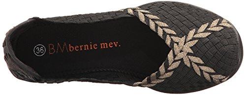 Bernie Mev Women's Braided Catwalk Flat Black/Bronze 8NVCQjP