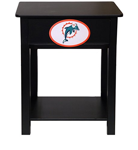 Fan Creations N0533-MIA Miami Dolphins Nightstand/Side Table