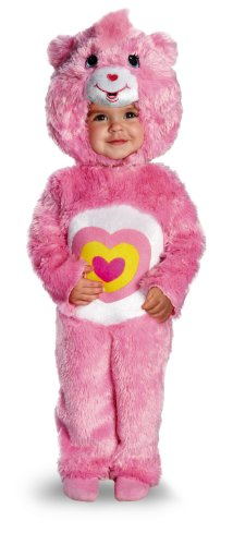 [Disguise Baby Girl's Care Bears Wonderheart Bear Deluxe Costume, Pink, 2T] (Bear Halloween Costume Women)