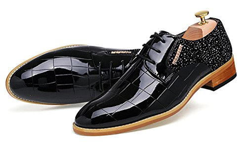 Cuero Peluquería Zapatos De Señalados De Inglaterra Casuales black Zapatos Zapatos HYLM De Groom Charol Negocios Nightclub Boda Hombre De v5HqX4w