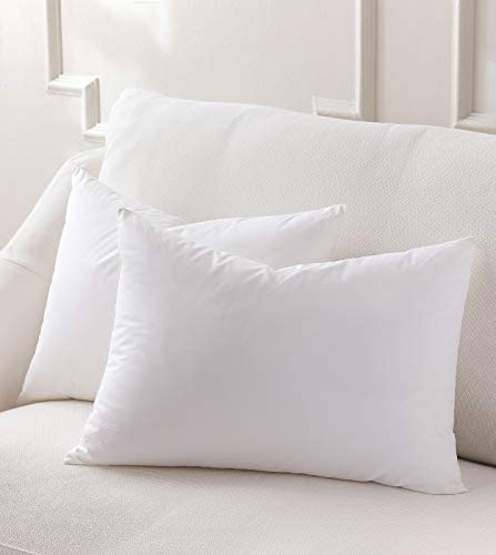 Plankroad Home D cor 11×14 Hypoallergenic Luxury 100 Small Feather Rectangular Pillow Insert, 100 Cambric Cotton Shell, Never Vacuum-Packed, Odorless, Made in USA, Set of 2
