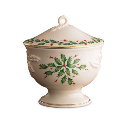 Carved Candy Dish - Lenox Holiday Carved Covered Candy Dish