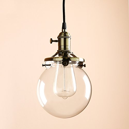 Blown Glass Globe Pendant Light - 4