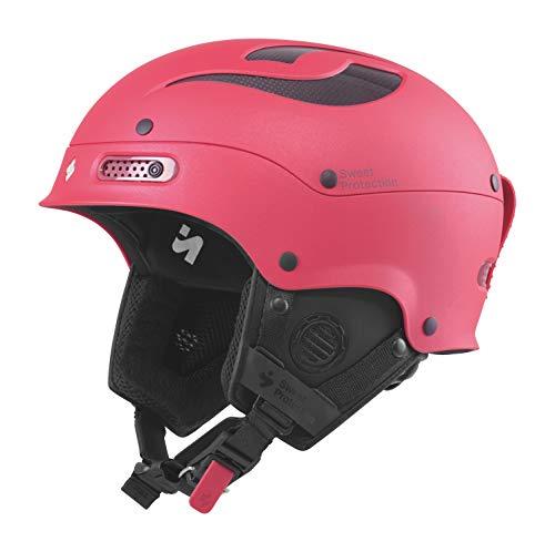(Sweet Protection Women's Trooper II Ski and Snowboard Helmet, Satin Rubus Red Metallic, Medium/Large)