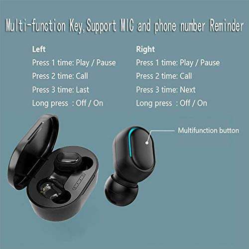 gdfh Wireless Earbuds Bluetooth 5.0 Earphones in-Ear with Charging Case Waterproof Sports Headphone with Charging Case