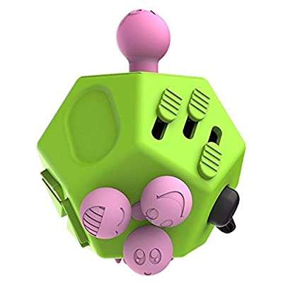 Simon Fidget Cube 12-Sided Decompression Cube Toys to Anxiety Anxious Box of Children and Adults (Green): Toys & Games