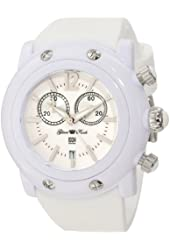 Glam Rock Women's GD1113WW-DMC-C Miami Beach Chronograph White Dial White Silicone Watch