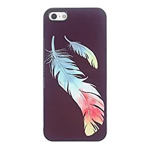 SJT Colorful Feather Design Aluminium Hard Case for iPhone 4/4S