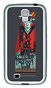 Galaxy S4 Case, Personalized Custom Protective Soft Rubber TPU White Edge Halloween 10 Case Cover for Samsung Galaxy S4 I9500