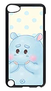 Brian114 Case, iPod Touch 5 Case, iPod Touch 5th Case Cover, Cute Catoon Shy Hippo Retro Protective Hard PC Back Case for iPod Touch 5 ( Black ) Kimberly Kurzendoerfer