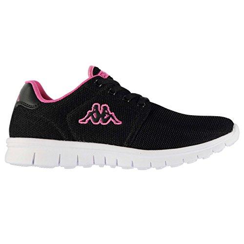 Kappa Féroé Baskets pour femme Noir/magenta Sneakers Chaussures de sport Chaussures