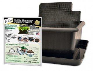 Natures Footprint Sub-Irrigation watering Planter Metro Grower Basic - 6 gallon, Black (Set of 2)