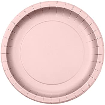 Jubilee 7-Inch Paper Plates 40 Count Pink  sc 1 st  Amazon.com & Amazon.com: Light Pink Paper Plates 25ct: Kitchen u0026 Dining