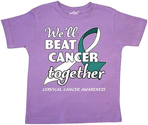 inktastic We'll Beat Cancer Together- Cervical Cancer Awareness Toddler T-Shirt