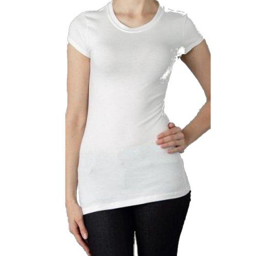 e8f6459d8 Zenana Outfitters Women's Long Basic Short Sleeve Crew Neck T Shirt Top  (Medium, Lilac