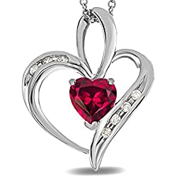 Star K14 kt White Gold Heart Shape 6mm Pendant
