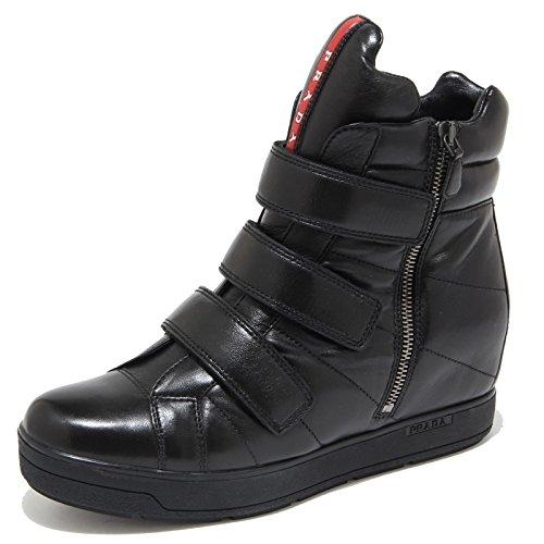 4492m Prada Nere Nero Donna Nappa Sneakers Sport Zeppe Women Scarpe Shoes adpx6dw