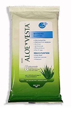 Aloe Vesta Bathing Cloth, 24 Pkgs of 8 Per Case Aloe Vesta Bathing Cloths