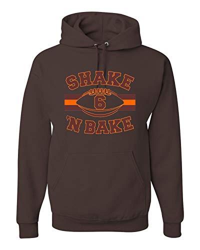 - X-Large Chocolate Adult Shake 'N Bake Cleveland Football Sweatshirt Hoodie