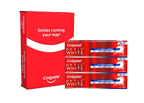 Colgate Icy Fresh Optic White Whitening Toothpaste, 5 Ounce, 3 Count by Colgate